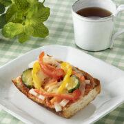 朝食に!玉ねぎソルトオイルでピザトースト